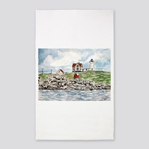 cape neddick lighthouse 3'x5' Area Rug