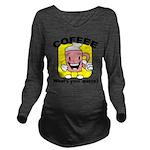 FIN-coffee-quota Long Sleeve Maternity T-Shirt