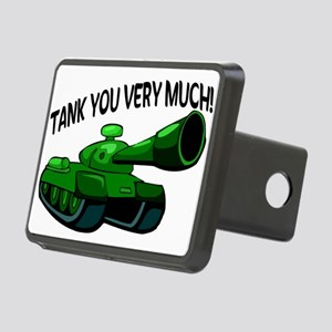 Tank You Very Much Rectangular Hitch Cover