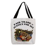 FIN-fair-trade-justice Polyester Tote Bag