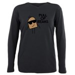 FIN-full-of-beans Plus Size Long Sleeve Tee