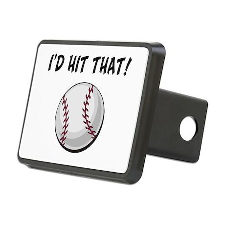I'd Hit That Baseball Rectangular Hitch Cover