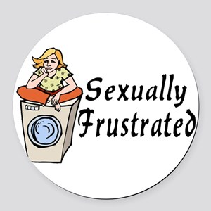 Sexually Frustrated Round Car Magnet