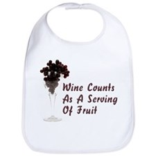 Wine Diet Cotton Baby Bib