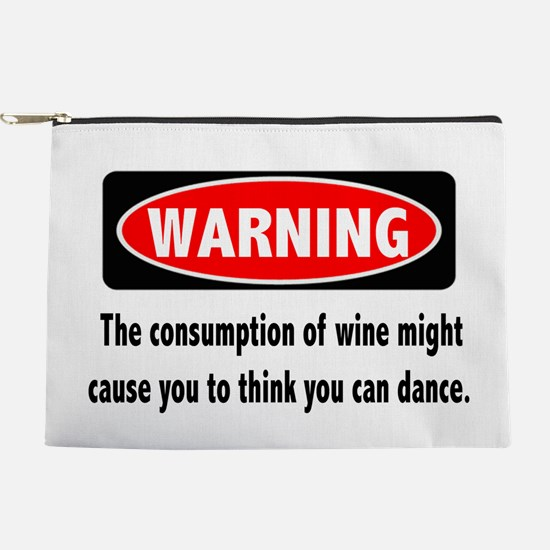 Wine Warning Makeup Pouch