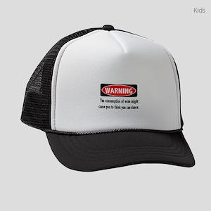 Wine Warning Kids Trucker hat