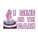 I Sing On The Cake Rectangle Car Magnet