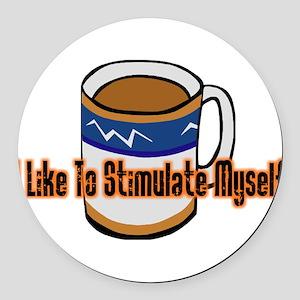 Coffee Stimulation Round Car Magnet