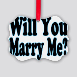 Will You Marry Me? His Picture Ornament