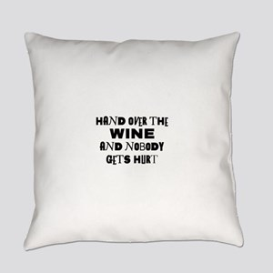 FIN-hand-over-wine Everyday Pillow