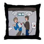 Hand Dryer Jetpack Throw Pillow