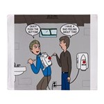 Hand Dryer Jetpack Throw Blanket