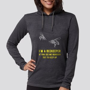 I'm a beekeeper if you see Womens Hooded Shirt