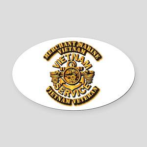 Usmm - Merchant Marine Vietnam Vet Oval Car Magnet