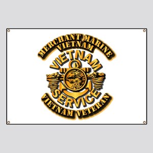 USMM - Merchant Marine - Vietnam Vet - 1 Banner
