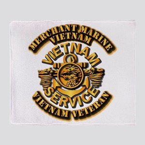 Usmm - Merchant Marine Vietnam Vet 1 Throw Blanket