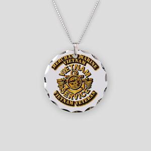 Usmm - Merchant Marine Necklace Circle Charm