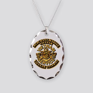 Usmm - Merchant Marine Vietnam Necklace Oval Charm
