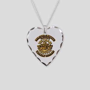 Usmm - Merchant Marine Necklace Heart Charm