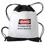FIN-warning-beer-sing.png Drawstring Bag