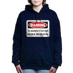 FIN-warning-beer-sing.png Women's Hooded Sweatshir
