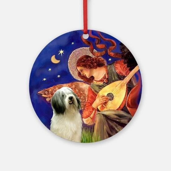 Mandolin Angel & PON Ornament (Round)