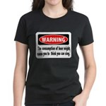 FIN-warning-beer-sing.png Women's Dark T-Shirt