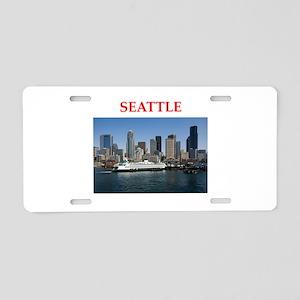 seattle Aluminum License Plate