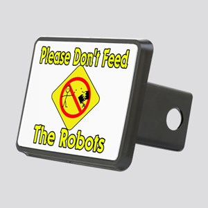 Don't Feed Robots Rectangular Hitch Cover