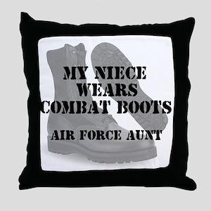 AF Aunt Niece wears cb Throw Pillow
