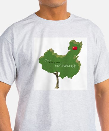 China Adoption Family Tree T-Shirt