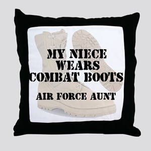 AF Aunt Niece wears DCB Throw Pillow