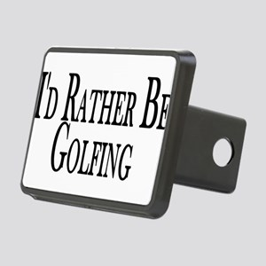 Rather Be Golfing Rectangular Hitch Cover