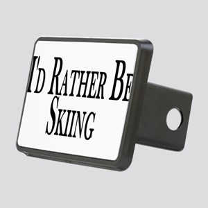 Rather Be Skiing Rectangular Hitch Cover