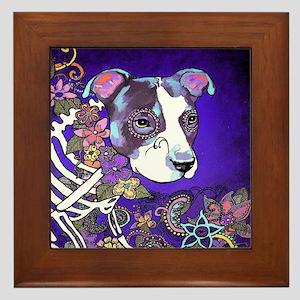 Dia los muertos, dog Framed Tile