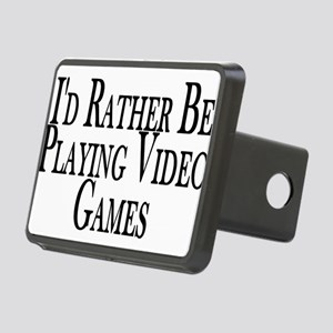 Rather Play Video Games Rectangular Hitch Cover