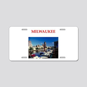 milwaukee Aluminum License Plate