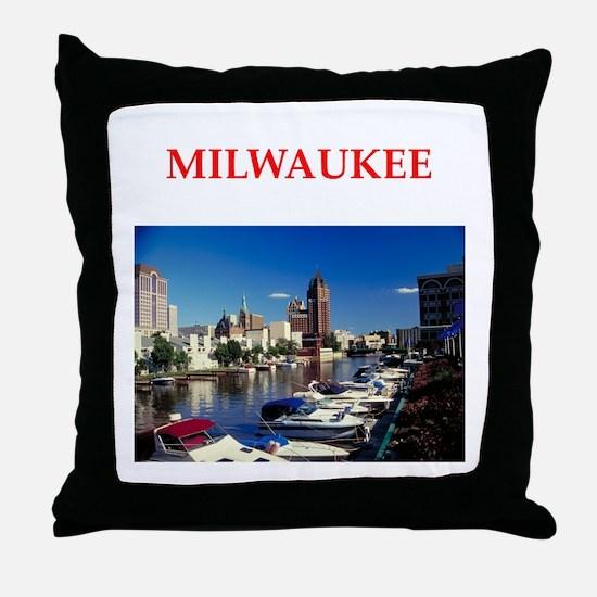 milwaukee Throw Pillow