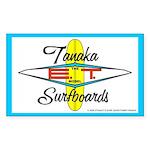 Tanaka ET Model Surfboards Rectangle Sticker