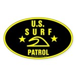 U.S. SURF PATROL Oval Sticker