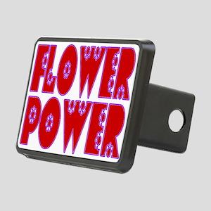 Flower Power Rectangular Hitch Cover