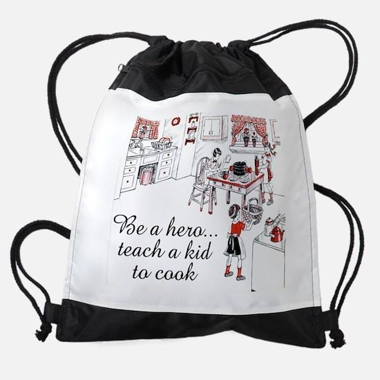 FIN-teach-kid-cook.png Drawstring Bag