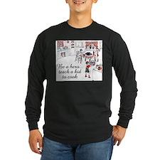 FIN-teach-kid-cook Long Sleeve Dark T-Shirt