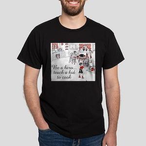 FIN-teach-kid-cook Dark T-Shirt