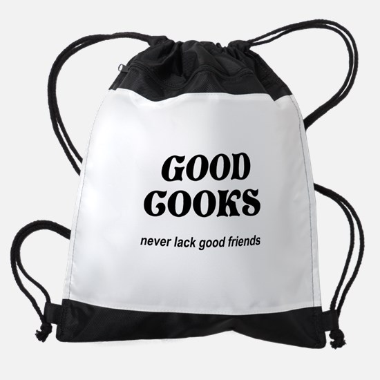 FIN-good-cooks-friends.png Drawstring Bag