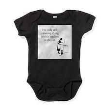 FIN-kitchen-cat Baby Bodysuit