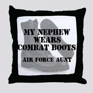 AF Aunt Nephew wears CB Throw Pillow