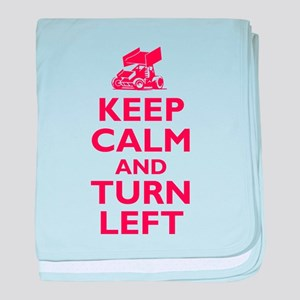 Keep Calm and Turn Left baby blanket