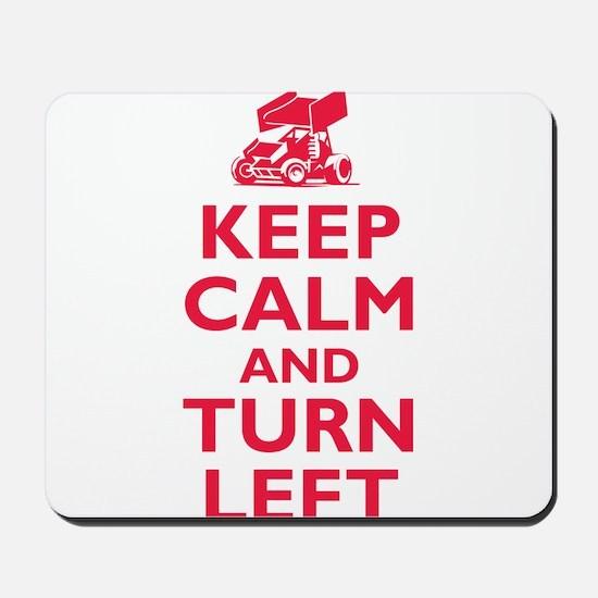 Keep Calm and Turn Left Mousepad