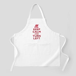 Keep Calm and Turn Left Apron